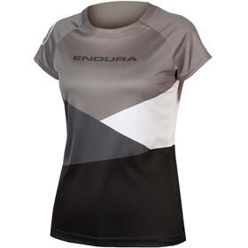 Endura SingleTrack Core Print Trikot Kurzarm Damen schwarz